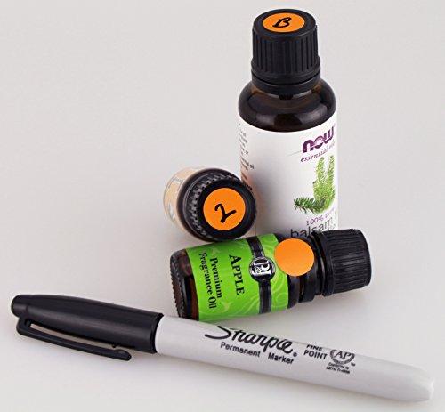 ChromaLabel 1/2 Inch Round Permanent Color-Code Dot Stickers, 1000 per Dispenser Box, Orange Photo #5