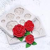 RUIYELE Molde de silicona con diseño de rosas para tartas, chocolate,...