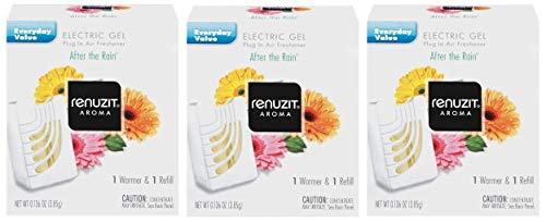 RENUZIT After The Rain ELECTRIC GEL Refills + WARMERS Fits Glade PlugIns (Pack of 3)