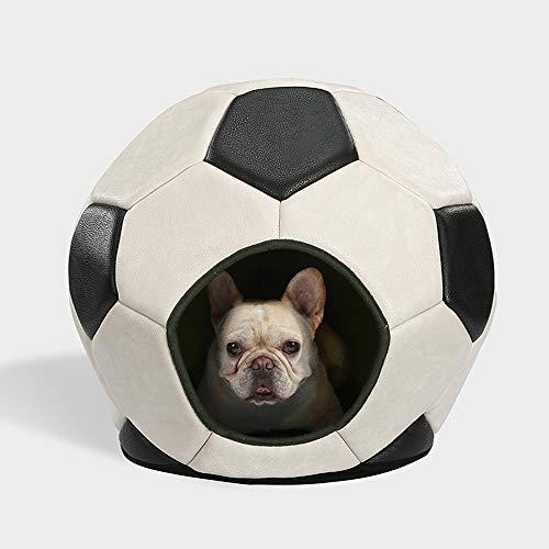 Asncnxdore Wang Algodón Creativo Love Nest Nido De La Perrera del Animal Doméstico Lavable De Algodón Baloncesto Nido 50 * 45cm (Color : White)