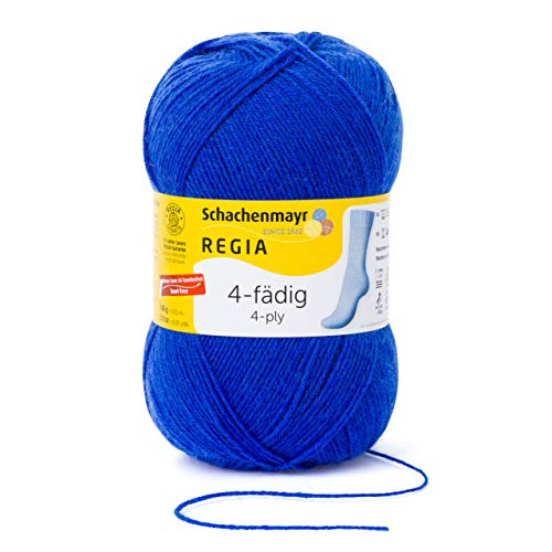 Schachenmayr REGIA Handstrickgarne 4-fädig Uni, 100g Electric Blue