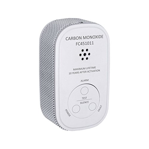 ELRO Kohlenmonoxid Melder Prüftaste und Warnanzeige FC4510 Mini Alarm CO – mit 10 Jahren Batterie – entspricht der europäischen Norm EN50291, Weiß