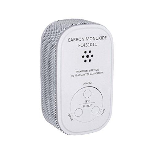 ELRO FC4510 Mini Kohlenmonoxid Melder - Batterie - mit Prüftaste und Warnanzeige - mit der europäischen Norm EN50291, Weiß