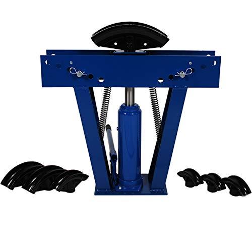 HELO 12t Rohrbiegemaschine hydraulisch manuell zum Biegen von Radien bis 90°, inkl. 6 Druckstücke für Rohrdurchmesser: 1/2