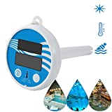 ANYI Pool Temperature Thermometer Floating, Digital Wireless Pool Thermometer Floating Easy Read, Shatter Resistant Swimming Pool Thermometer Large Numbers for Pools Spas Hot Tubs and Aquariums