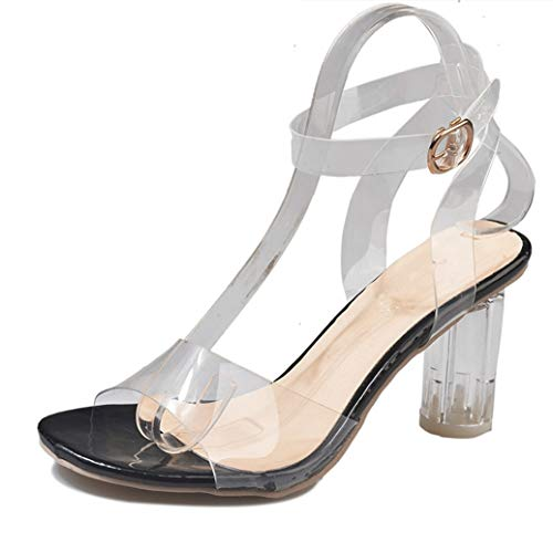 Frauen High Heels Plateau Pumps Peep Toe Transparent Stiletto Sandalen Hochzeit Beach Party Stilvolle Schuhe für Damen
