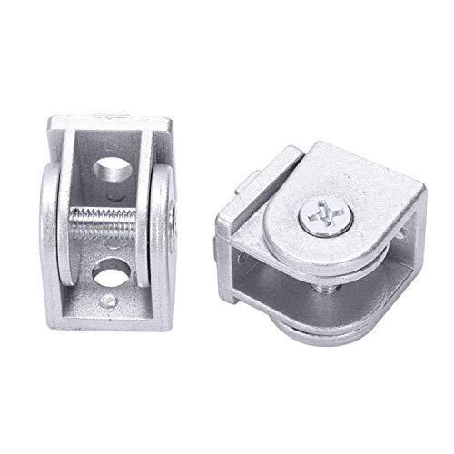 REFURBISHHOUSE 2 Stück/Los Legierung Flexible Drehzapfen Gelenk Stecker Für Eu Standard Aluminium Extrusion Profil 2020