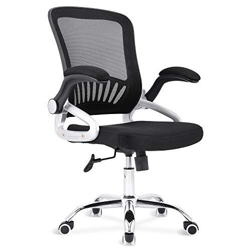 Sigtua, Office Stuhl drehbarer Bürostuhl Höhenverstellbarer Schreibtischstuhl atmungsaktive PC Stuhl Ergonomischer Chefsessel Computerstuhl Schwarz
