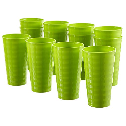 Splash 20ounce Unbreakable Plastic Tumblers | set of 12 Lime Green