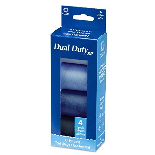 Dual Duty XP 4 Spool Box Assortment Thread, Blues