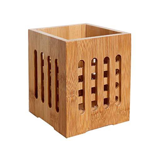UPKOCH 1 unid palillos titular holey cocina bambú almacenamiento cubo vajilla secado recipiente cubiertos organizador para el hogar restaurante