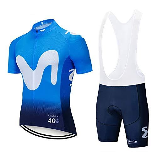 STEPANZU Abbigliamento Ciclismo Estivo Abbigliamento MTB Uomo e Pantaloncini Imbottiti in Gel Traspirante Completi Ciclismo Professionisti