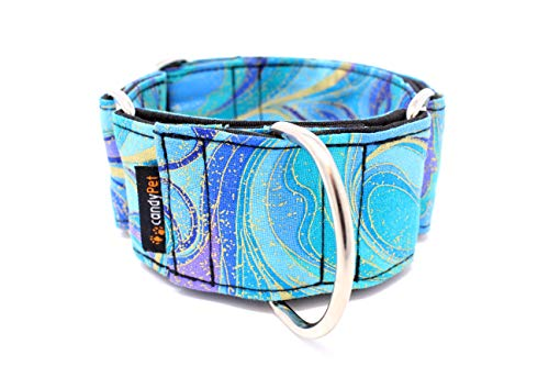 Candy Pet Martingale Hundehalsband, Modell Wellenmuster