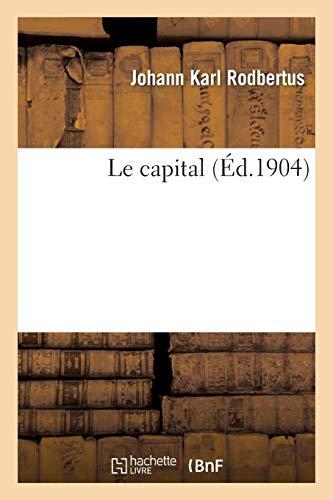 Rodbertus-J: Capital (Sciences)