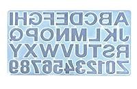 シリコンモールド型 アルファベット&数字 特大 裏