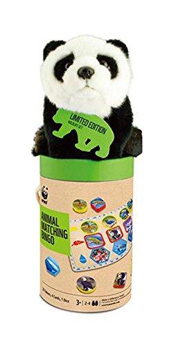 WWF 091-pan – Jeu de Table, Set Bravo avec Peluche Panda