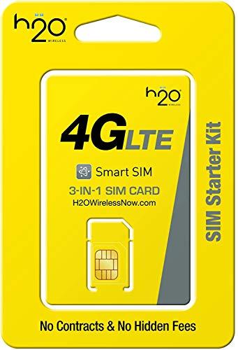 H2O Wireless 3-in-1 SIM Starter Kit for Unlocked Phones - Upgraded Plans 2020