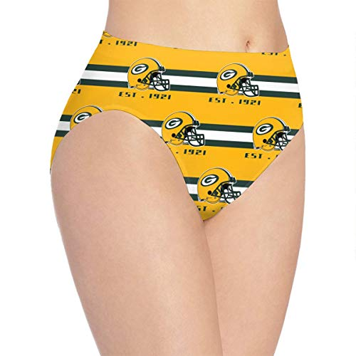 ZZW Womens Green Bay Packers Underwear,Breathable Comfortable Stretch Ladies Soft Underpants Briefs Panties for Women
