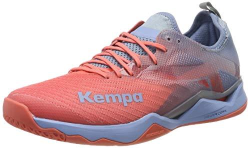 Kempa Wing Lite 2.0 Women Zapatillas de Balonmano Mujer, Multicolor (Coral/Lilac Grey 01), 39.5 EU