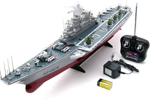1:275 4 Channel RC Remote Control Aircraft Carrier Boat Battleship ship...