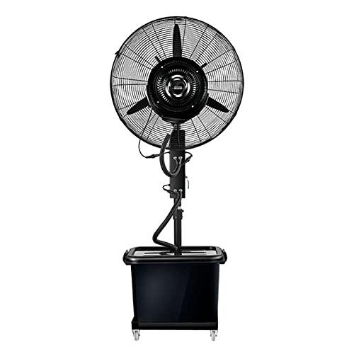 YUYI Climatizadores evaporativos Ventilador de Niebla oscilante, Ventilador de Pedestal Humidificador de Niebla de enfriamiento Atomización de Torre silenciosa Ventilador de oscilación Vertical Comer