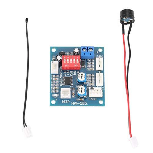 Controlador de velocidad del ventilador PWM, termostato de cuatro cables DC 12V Módulo regulador del controlador de velocidad del ventilador PWM para la función de control de velocidad de PC DC 12V