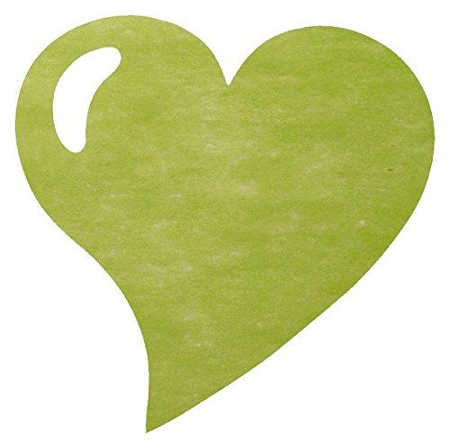 Artificielles - Sets de table coeur x 50 vert amande tissu non tisse uni d 38 cm - choisissezvotrecouleur: vert anis