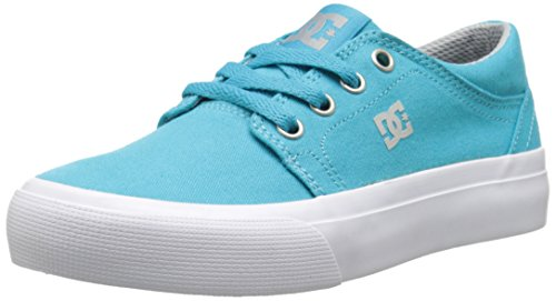 DC Shoes DC Shoes Trase Tx, Jungen Sneaker Türkis Turquoise (Turquoise/Lt Grey), 34 EU (2 UK)