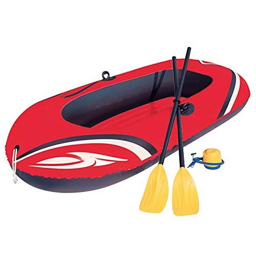 Gaoweipeng 2 Personas Kayak Hinchable,Plegable Conveniente Bote Inflable PVC Ambiental Espesar Airbag Seguridad Estabilidad Comodidad Excursión Pesca Piragua