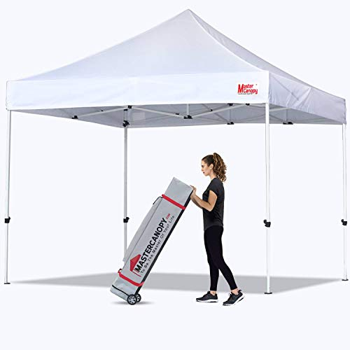 MASTERCANOPY Pop Up Canopy Tent Commercial Grade 10x10 Instant Shelter (White)