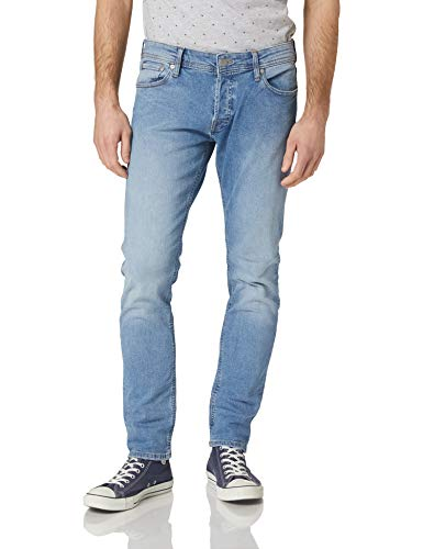 Jack & Jones JJIGLENN Jjoriginal NA 032 Jeans, Bleu Denim, 33W x 30L Homme