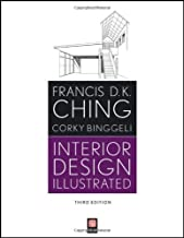 Interior Design Illustrated by Francis D. K. Ching (6-Mar-2012) Paperback