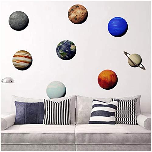 TTAMM Wandaufkleber Wandsticker Heimtextilien DIY Solar System Planet Kombination entfernbare...