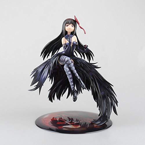 YANGENG Puella Magi Madoka Magica Akemi Homura 9.4 In Demon Flame Modelo de anime Estatua de PVC Modelo de personaje de acción Juguetes y juegos Colección Otaku Juguete digital para adultos Muñeca Dec