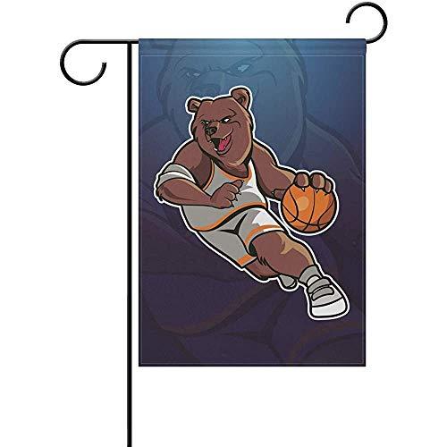 Hao-shop decoratiebord vlag basketbaltuin Art Bear voor de decoratie buitenshuis voor het erf