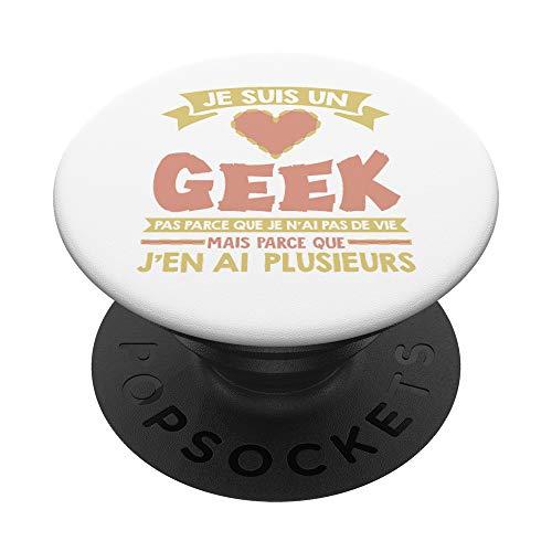 Geek J'Ai Plusieurs Vies Gamer PopSockets PopGrip: Agarre intercambiable para Teléfonos y Tabletas