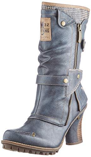 MUSTANG Damen 1141-606 Halblange Stiefel, 800 dunkelblau, 40 EU