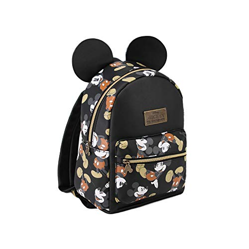 KARACTERMANIA Mickey Mouse True-mochila Fashion (pequeña) Rucksack, 27 cm, 7.5 liters, Schwarz (Negro)
