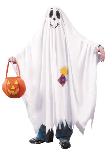 Kids Friendly Ghost Costume Small (4-6) White