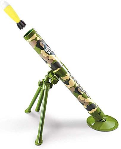 SEESEE.U Mörserkatapult-Raketenwerferspielzeug der Kinder mit Heller Musik, taktischer Mörser mit Abschuss-Schwamm-Sicherheitsraketen-Geburtstagsweihnachtsneujahrsgeschenk für Jungen