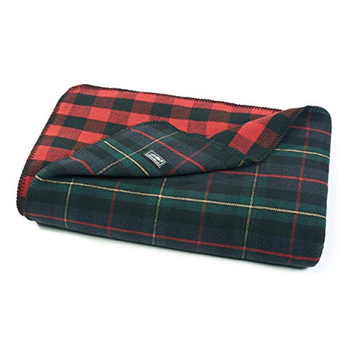 Eddie Bauer Ridgeline Lodge Reversible Wool Blanket, 60 x...