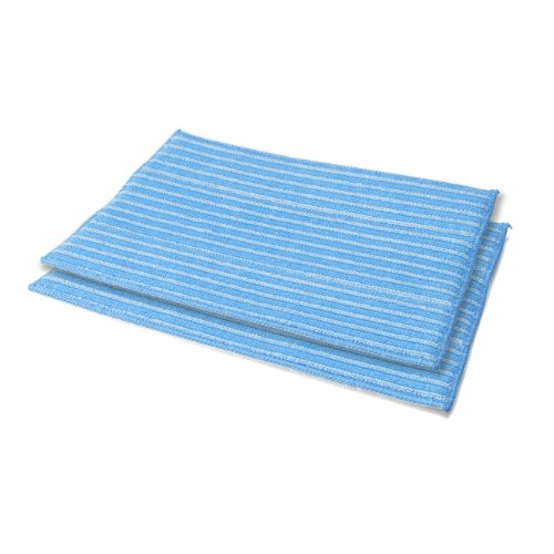 Haan RMF-2X Ultra-Clean Pads, Ultra-Microfiber Steam Cleaning Pads for All FS, SI and MS Series Steamers; 2 Pack
