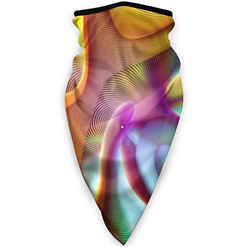 C/N Colorido Wormhole Fold al aire libre cara máscara de la boca a prueba de viento deportes máscara de esquí escudo bufanda Bandana hombres mujer bufanda máscara