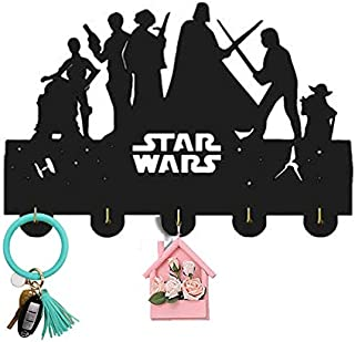 Star Wars Wall Hanger Wall Hook Key Holder Key Hanger Wall Key Rack Wall Key Holder with 5 Metal Hooks Personalized Gift Home Housewarming Gift Christmas Gift S3