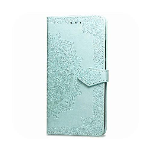 Funda de piel con tapa para LG X5 Magna K11 K30 K20 K40 K50 Q60 C40 Funda 1Green-Magna