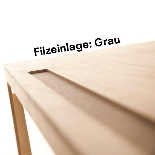 grau - SIBIS Vaclav – Höhenverstellbarer Kindertisch aus Holz und Filz ab 6 Jahren