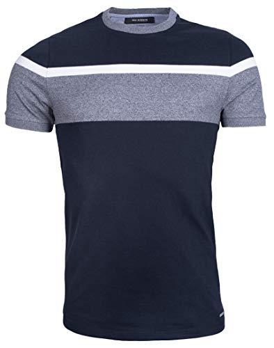 Camiseta para hombre de algodón piqué, corte ajustado