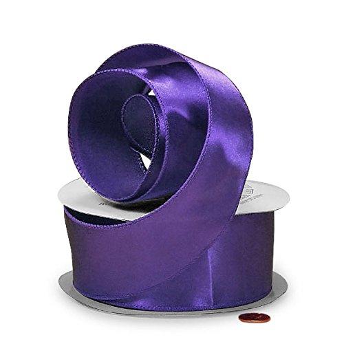 Purple Wired Satin Ribbon 2 1/2' X 25 Yards