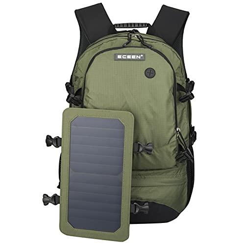 DYJXIGO Rucksack 7 W Solarpanel Power mit USB-Ladegerät, Outdoor-Solarrucksack für Laufen, Radfahren, Wandern, Tagesrucksack, Camping, Skifahren, Jagd, Armeegrün