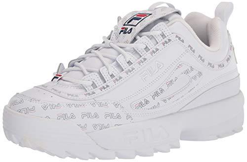 Fila womens Fila Women's Disruptor Ii Multiflag Sneaker, White/Navy/Red, 10 US